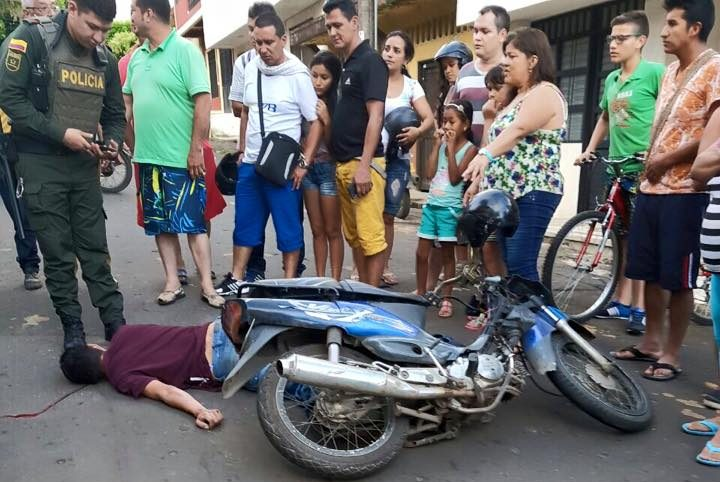 Accidente en el barrio La Libertad
