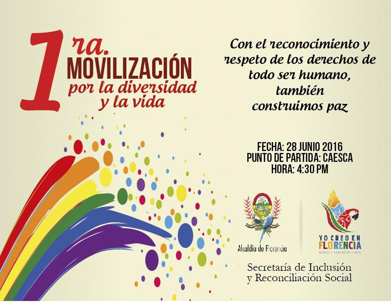 Primera movilización por la diversidad y la vida invita la comunidad LGBTI