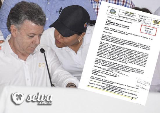 Alcaldesa de El Doncello solicita consulta popular sobre intervención petrolera al presidente Santos
