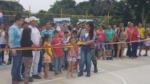 La alcaldesa de El Doncello entregó Polideportivo en Puerto Manrique
