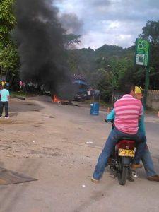 Graves disturbios en Paujil Caquetá en rechazo a las petroleras