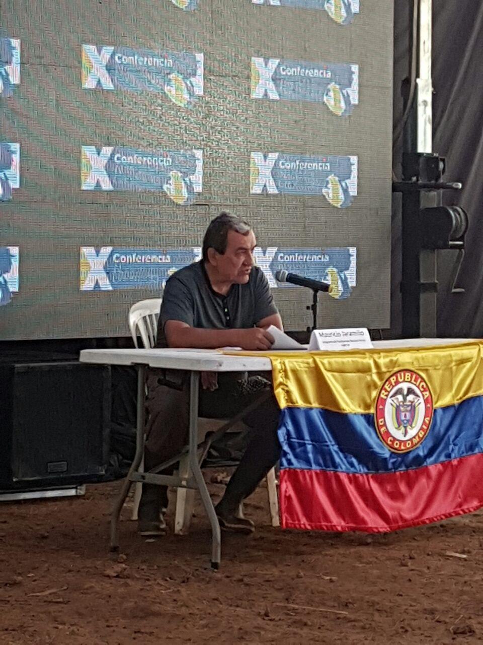 La primera rueda de prensa con Mauricio Jaramillo. Foto Marinela