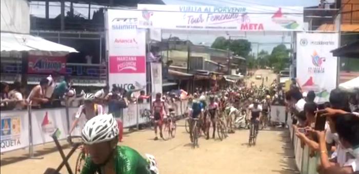 Con accidente culminó la segunda etapa de La Vuelta del Porvenir en Curillo, Caquetá