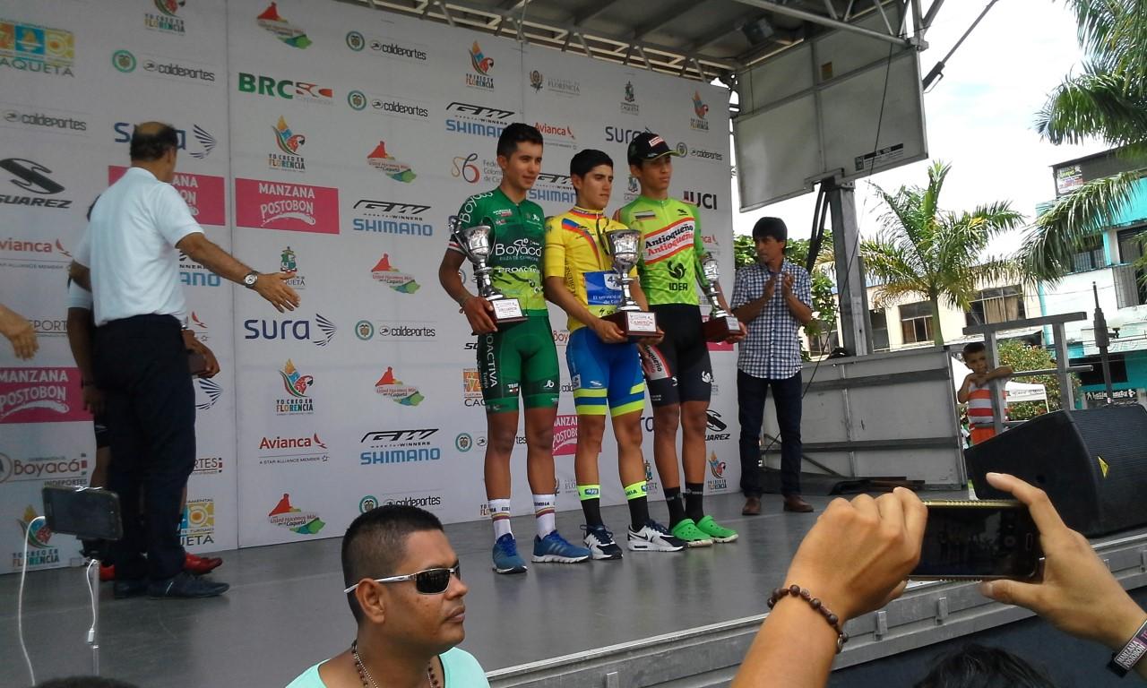 El podio de La Vuelta del Porvenir
