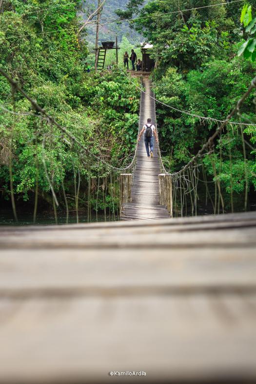 Puente colgande sobre el río Pescado, Belén de los Andaquíes - Caquetá. Foografía: KamiloArdila