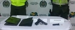 Incautada arma de fuego, dos capturados por robo de motocicletas y otro por hurto en flagrancia.