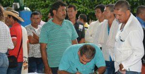 Acuerdo para sustitución de cultivos ilícitos en La Montañita