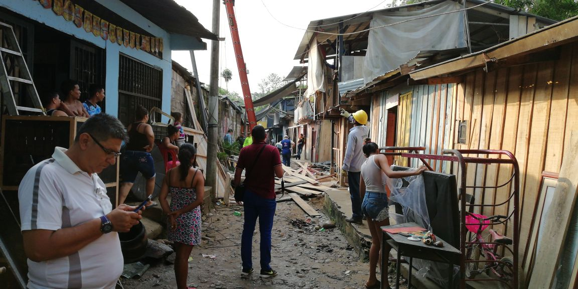 Operativo en el barrio Idema de Florencia: capturas y demolición de casas