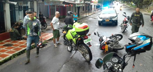 Choque de motorizadas en Florencia, Caquetá