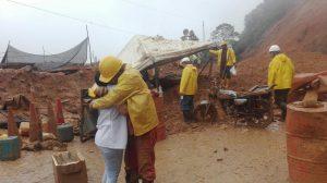 Nuevo derrumbe en la vía Florencia Suaza; hay heridos