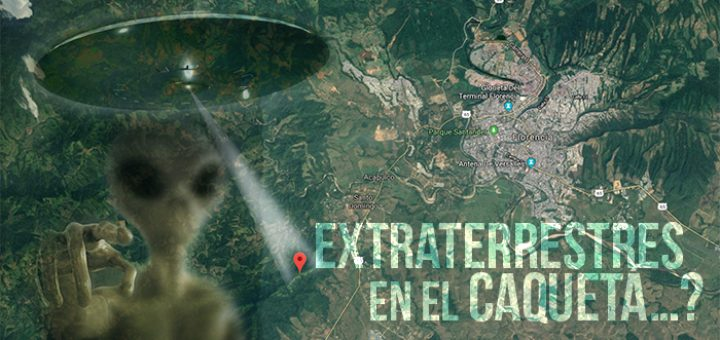 Extraterrestres en Florencia Caquetá. Ilustración: Selva.com.co
