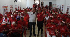 Cada día crece la marea roja con César Torres a la gobernación