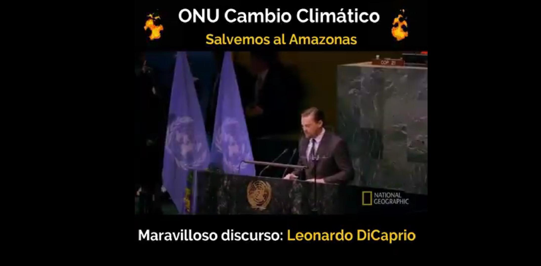 Leonardo Dicaprio y la terrible realidad del cambio climático