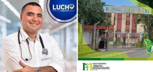 gerencia del Hospital María Inmaculada de Florencia, del médico Luis Francisco Ruiz