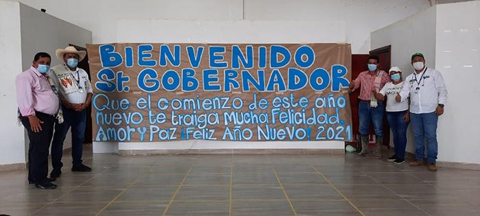 CON UN MENSAJE DE FIN DE AÑO, GOBERNADOR ARNULFO GASCA LLEGÓ AL MUNICIPIO DE SOLITA.